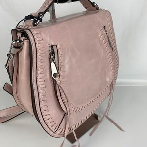 New Rebecca Minkoff Vanity Leather Shoulder Bag